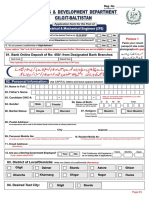 Application Form for PDD Project