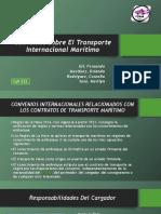 Convenios Sobre El Transporte Internacional Marítimo