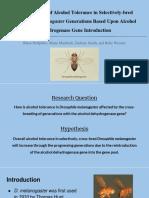 drosophila melanogaster alcohol tolerance
