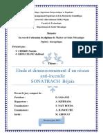 Etude Et Dimensionnement d'Un Réseau Anti-Incendie Sonatrach Béjaia