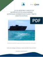 Protocolo de Muestreo y Análisis de Microplásticos en Aguas Marinas Superficiales, Sedimentos de Playas y Tracto Digestivo de Peces