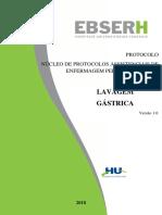 PROTOCOLO LAVAGEM GÁSTRICA