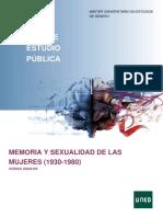 memoria y sexualidad de las mujeres