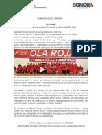 09-10-19 Abandera Gobernadora Pavlovich a atletas de la Ola Roja