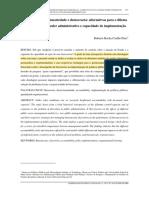 PIRES, RRC - Burocracia, Discricionariedade e Democracia