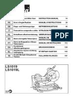 Manual Makita LS1019L-B