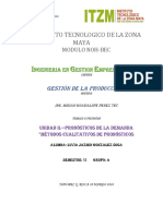 1 Unidad II.- Metodos Cualitativos de Pronosticos