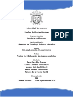 Práctica No. 3 Elaboración de Duraznos en Almíbar
