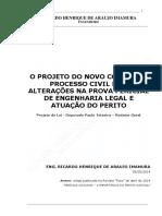 o Projeto Do Novo Código de Processo Civil e as Alterações Na Prova Pericial de Engenharia Legal e Atuação Do Perito