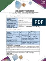 Guía de Actividades y Rúbrica de Evaluación-Paso 3 - Entrevista a Un Docente de Educación Infantil en Ejercicio