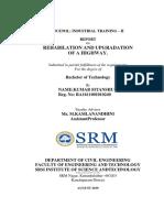 internship report (road construction)
