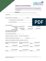 Exemple de Questionnaire 2016