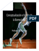 Conceptualización e Historia de La Biomecánica Clase 1
