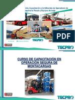 CURSO DE CAPACITACION EN OPERACION SEGURA DE MONTACARGAS