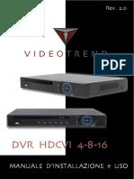 DVR HDCVI Manuale d'Installazione e Uso REV.2.0