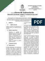 Pre-Informe 8_ Sedimentación