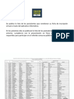 Comisión Especial JNJ publica lista de candidatos inscritos a concurso público de méritos