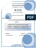 Amélioration du fonctionnement du tronçon Souffleuse – Remplisseuse de la Ligne 4LB de CEVITAL avec SIMA~0(1)