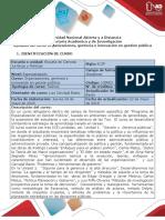 Syllabus Del Curso Organizaciones, Gerencia e Innovación en Gestión Pública 2019 16-4