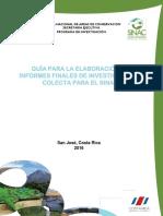 SINAC Guía Presentación Informes Investigación SINAC