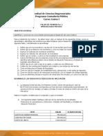 Taller de Trabajo No. 1 Costos I Aprendizajes Previos