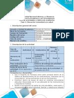 Guia de actividades y rubrica de evaluacion Fase 2 - Educación comunitaria en salud (1)