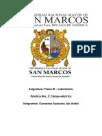 Física III Laboratorio - Procedimiento Campo Eléctrico
