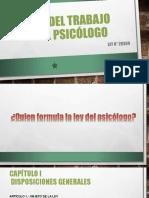 ley del psicologo