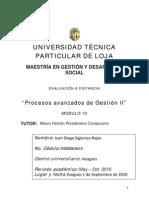 Procesos Avanzados de Gestion II Dr Juan Diego Sigüenza Rojas