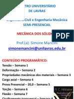 AULA 1 - Tensão Normal média e tensão de Cisalhamento média.ppt