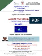Séminaire Analyse Temps Fréquence Adel Belouchrani Vendredi 01 Novembre 2019