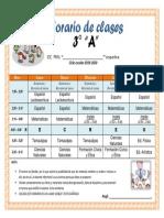 Horario de Clases 3er. Grado Primaria