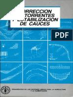 CORRECION DE TORRENTES Y ESTABILIZACION DE CAUCES