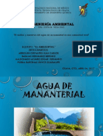 Análisis y Muestreo Del Agua de Un Manantial