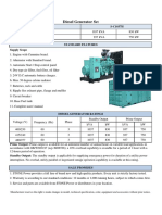 750-2 KTA38-G2B Caracteristica Motor y Alternador