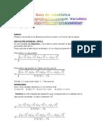 GUÍA Variables Aleatorias , Funcion Probabilidad.