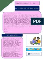math newsletter  1
