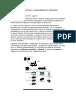 Materias Primas y Procesos Básicos de Fabricación