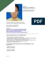 Resume Muhammad Rizal