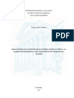 (DES)CONSTRUÇÃO DA IDENTIDADE DE GÊNERO