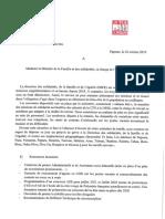 DSFE Adressé Au Ministre de La Solidarité - 22 10 2019