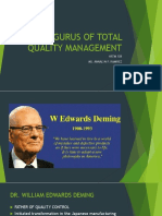 Gurus of Total Quality Management