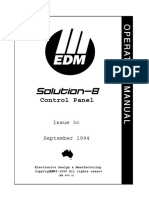 EDM Solution 8 User Manual