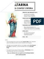 Altarina Making Contest Criteria