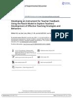Lans2017 Developing an Instrument for Teacher Feedback Using the Rasch Model to Explore Teachers Development of Effective Teaching Strategies and Behaviors.pdf