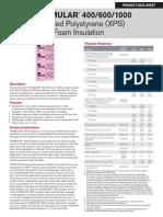 Foamular 400 600 1000 Xps Product Data Sheet