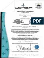 Certificado 2018 Lenor Elein