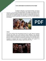 Países Donde Son Vulnerados Los Derechos de La Mujer