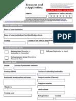 Exchange form