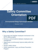 Safety Committee Orientation Training